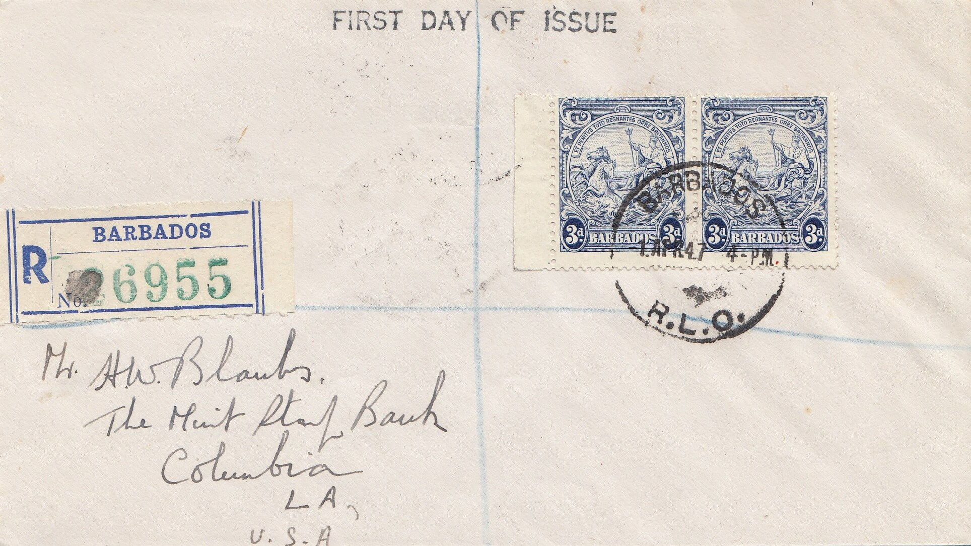 Barbados SG252c on First Day Cover