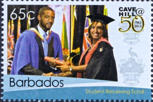 50th Anniversary of the University of the West Indies Cave Hill Campus Barbados - 65c stamp