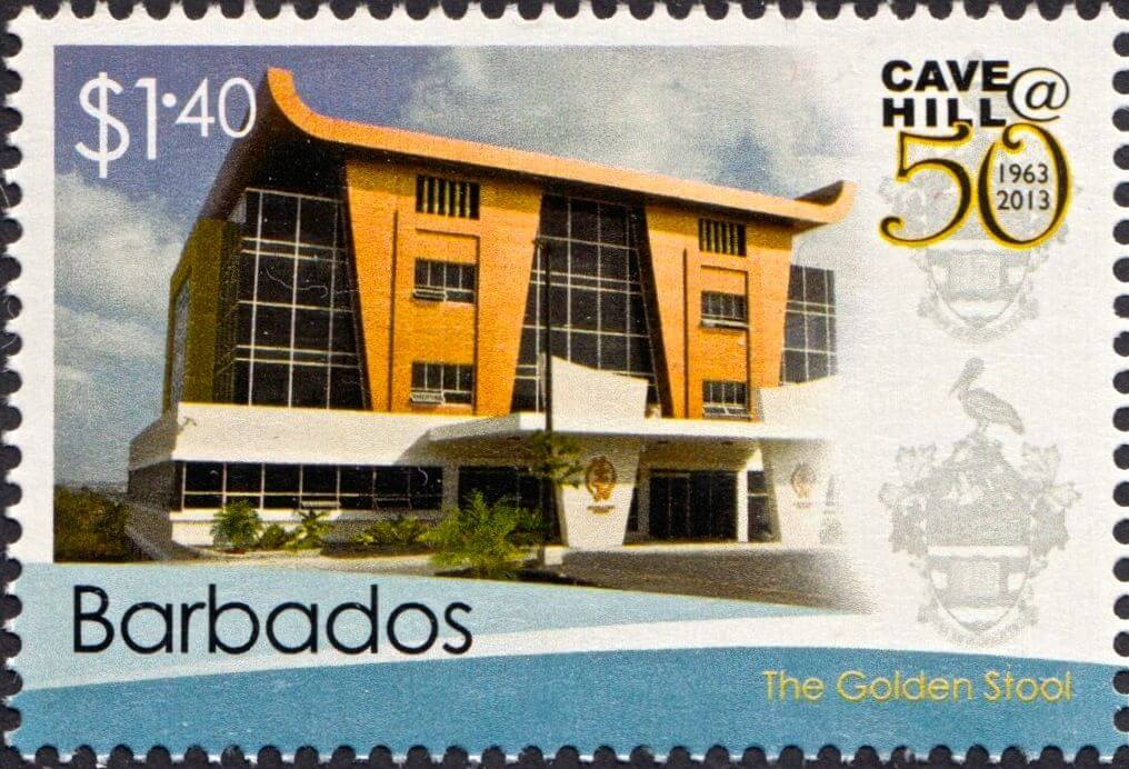 50th Anniversary of the University of the West Indies Cave Hill Campus Barbados - $1.40 stamp