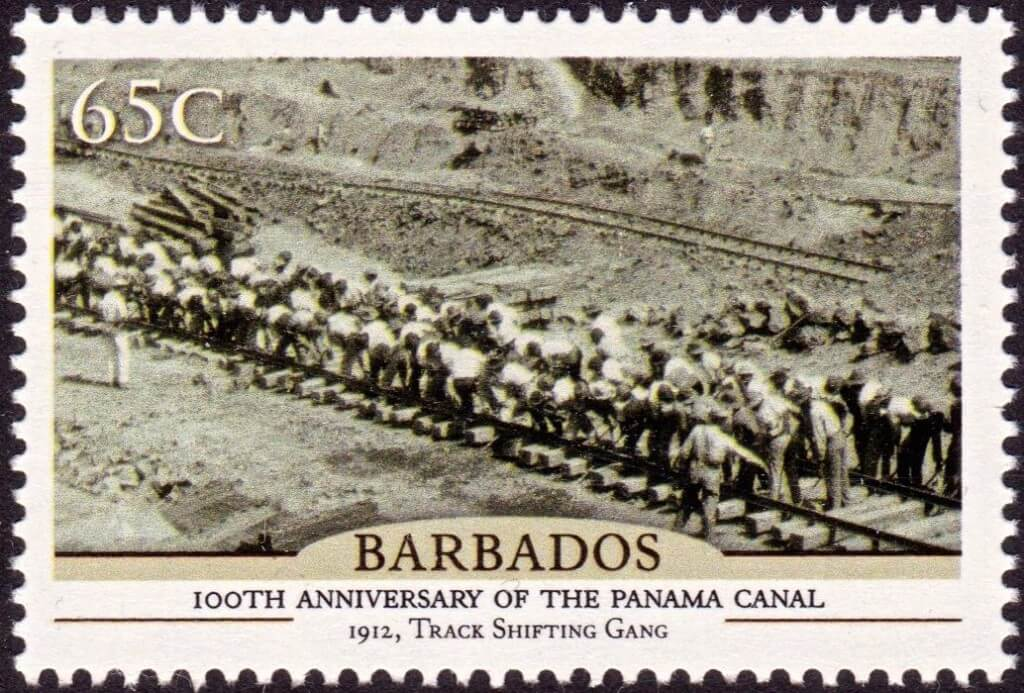 Barbados100th Anniversary of the Panama Canal - 65c stamp