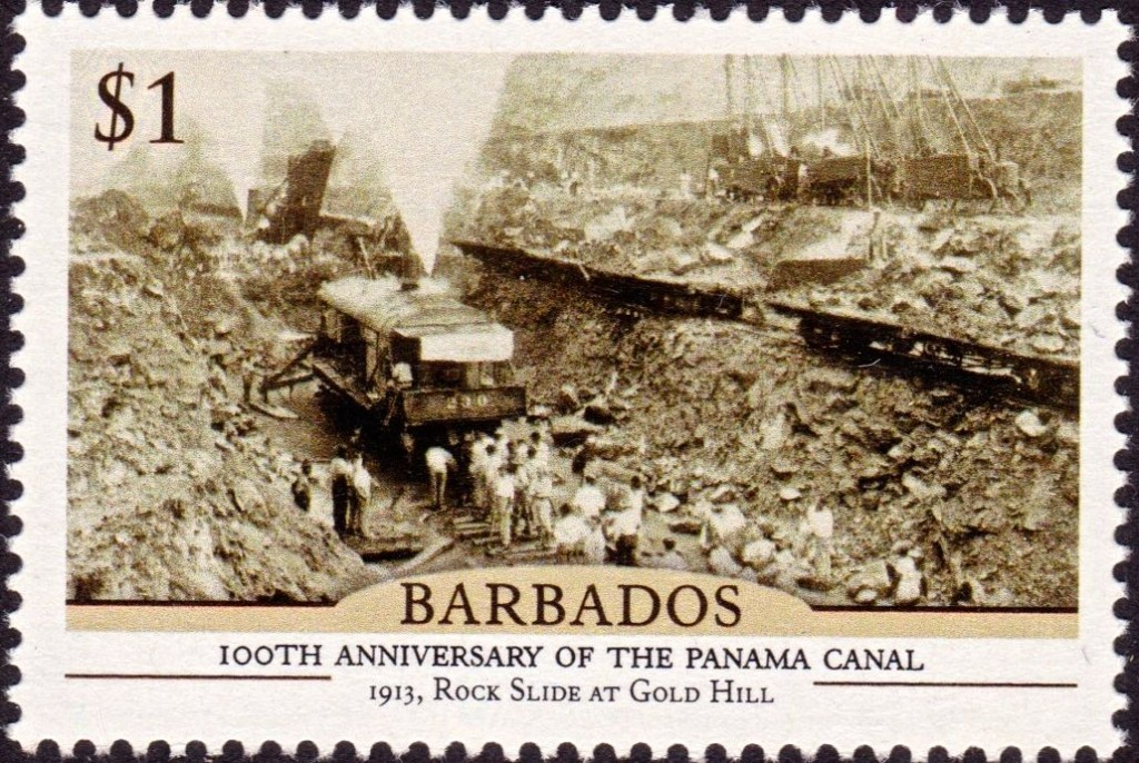 Barbados 100th Anniversary of the Panama Canal - $1 stamp