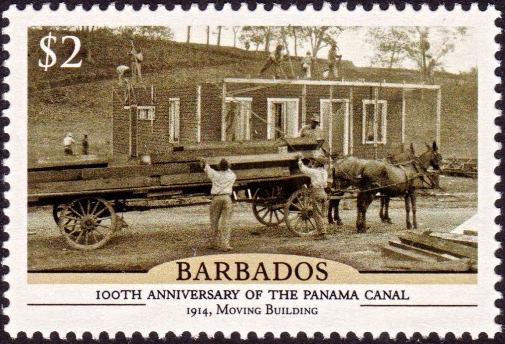 Barbados100th Anniversary of the Panama Canal - $2 stamp