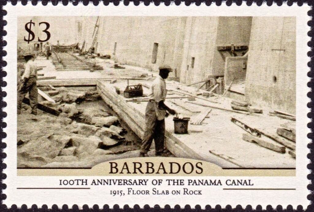 Barbados100th Anniversary of the Panama Canal - $3 stamp