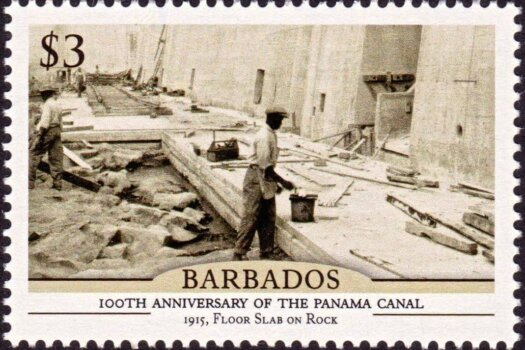 Barbados 100th Anniversary of the Panama Canal - $3