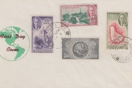 Barbados George VI First Day Cover 1950 - high values