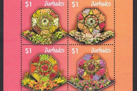Barbados SGMS1430 Gardens of Barbados mini sheet