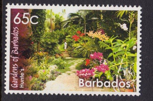 Hunte's Gardens stamp, Barbados