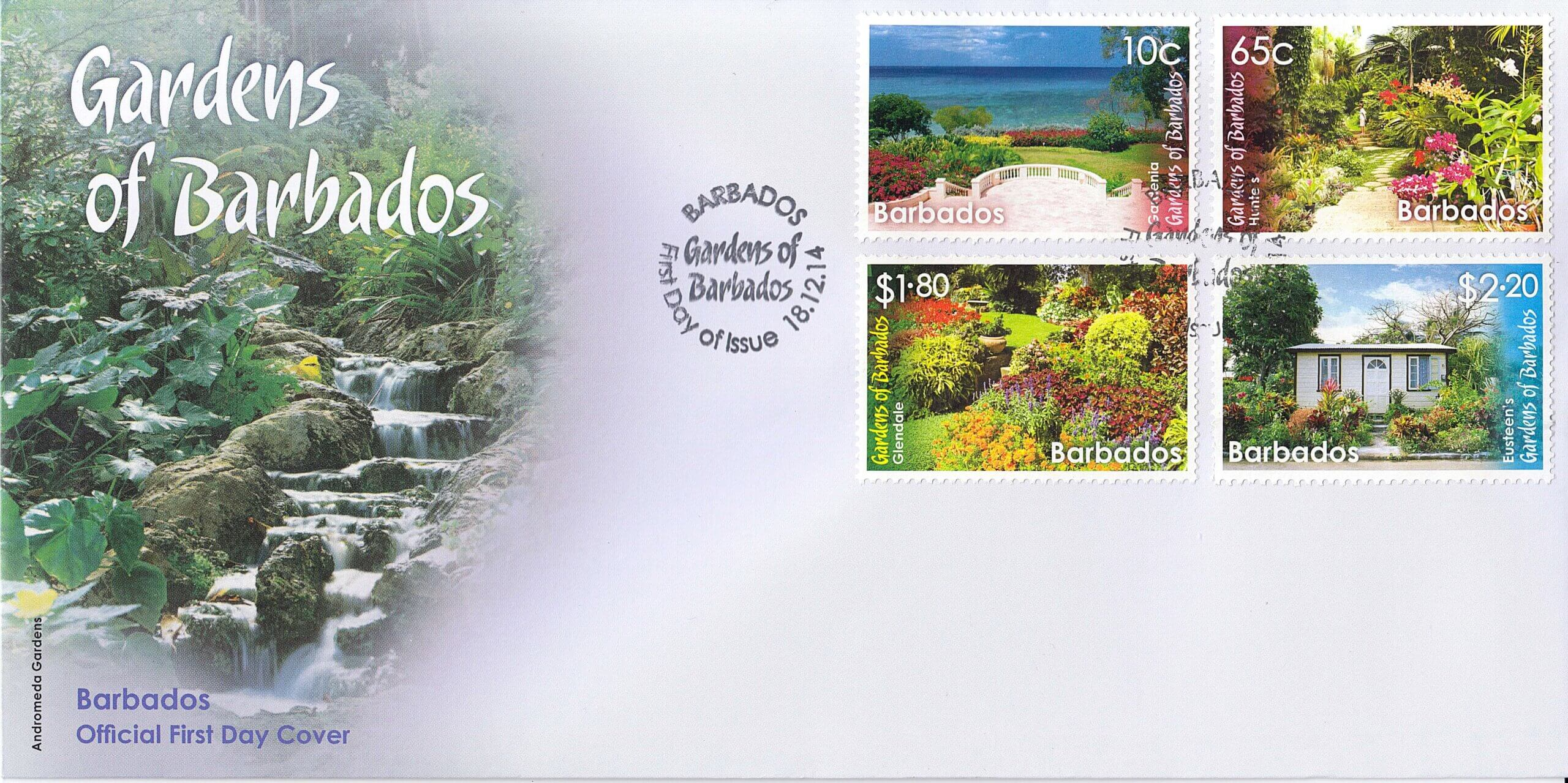 The Gardens of Barbados First Day Cover