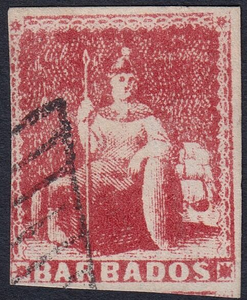 Forged Barbados Stamp