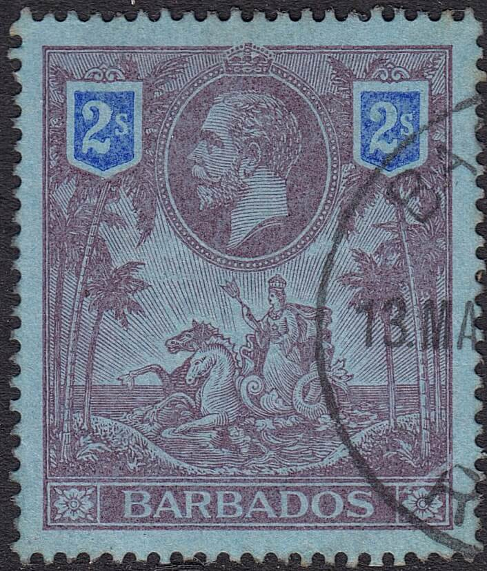 Barbados SG179 - 2/- high value