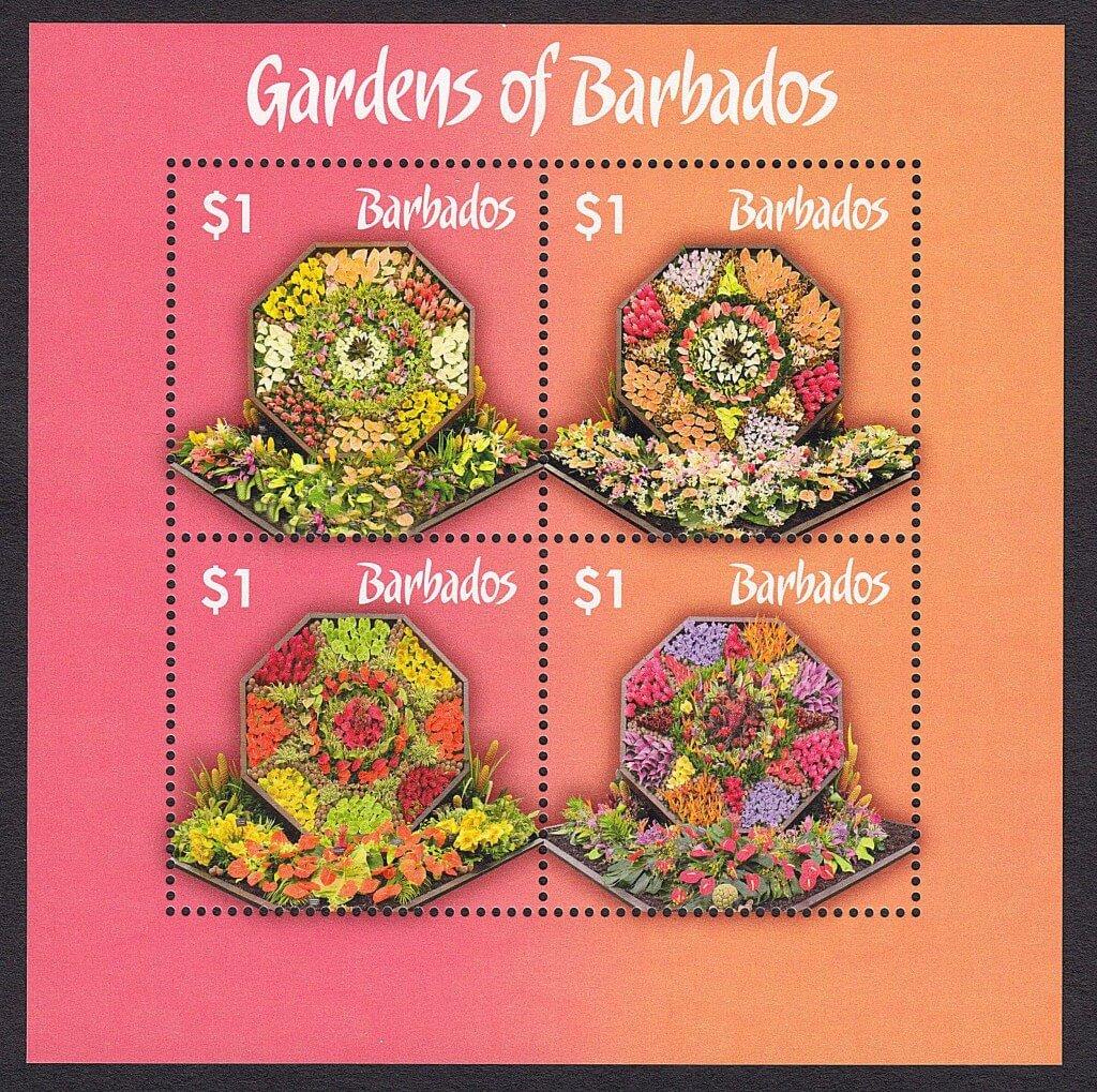 The Gardens of Barbados mini sheet