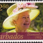 Queen Elizabeth II Diamond Jubilee - $2.50 - Barbados SG1386