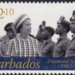 Queen Elizabeth II Diamond Jubilee - $2.10 - Barbados SG1385