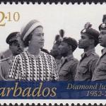 Queen Elizabeth II Diamond Jubilee - $2.10 - Barbados SG1385