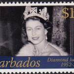 Queen Elizabeth II Diamond Jubilee - $1.40 - Barbados SG1384