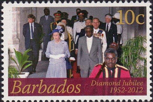 Queen Elizabeth II Diamond Jubilee - 10c - Barbados SG1383