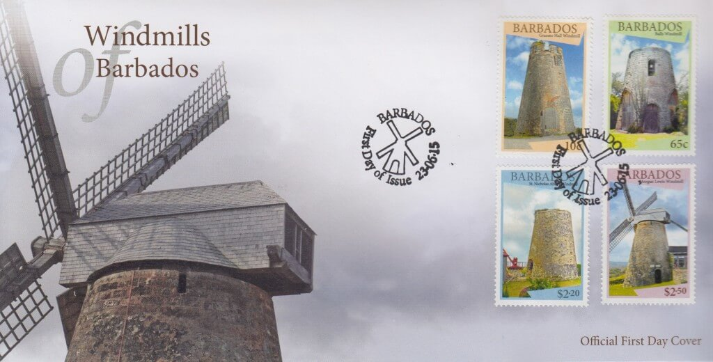 Windmills of Barbados FDC