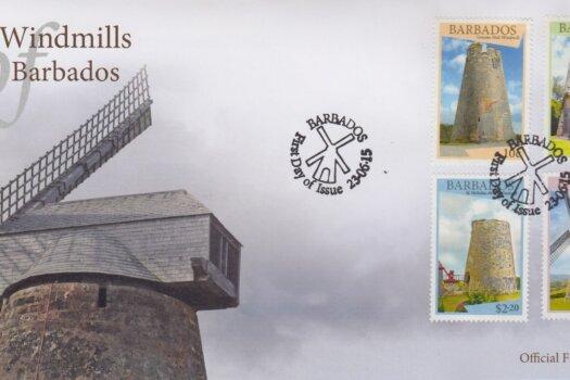 Windmills of Barbados FDC