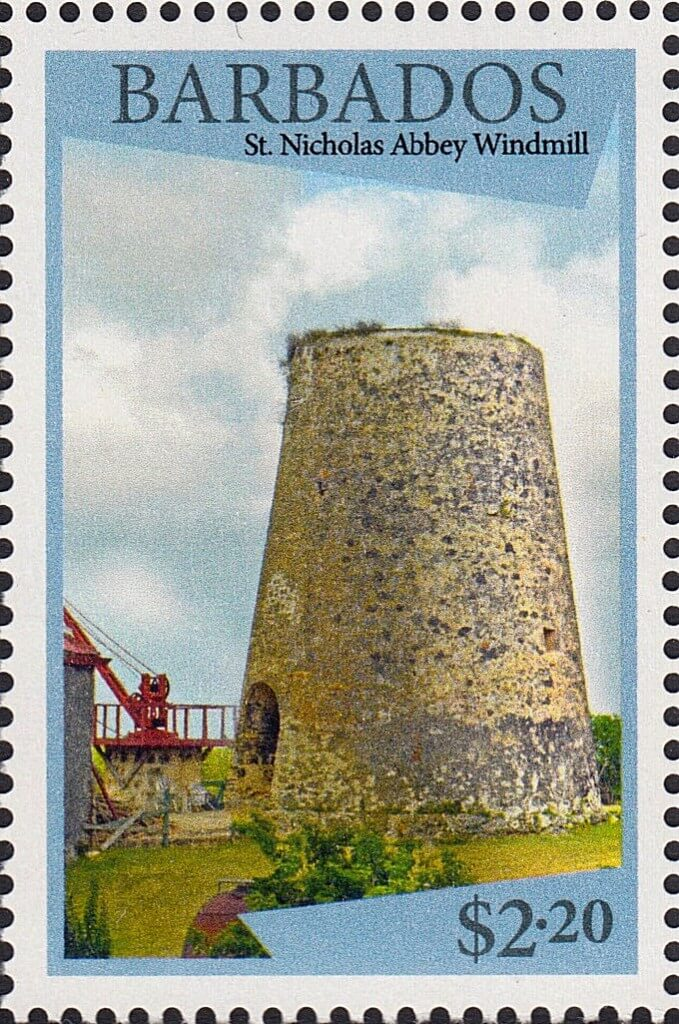 Barbados stamps - WIndmills of Barbados - $2.20 stamp Nicholas Abbey Windmill
