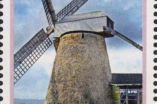 Barbados stamps - WIndmills of Barbados - $2.50 stamp Morgan Lewis Windmill