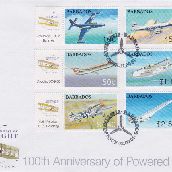 Barbados 100th Anniversary of Powered Flight FDC