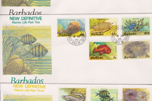 Barbados Marine Life Definitives FDC (3)