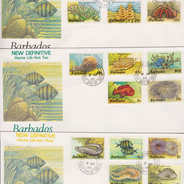 Barbados Marine Life Definitives FDC (3)