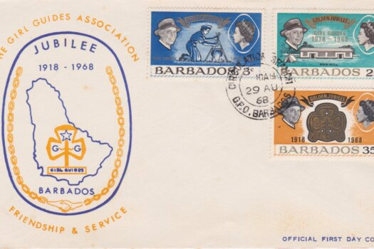 Barbados Girl Guides Association Jubilee FDC