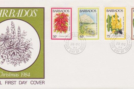 Barbados Christmas 1984 FDC