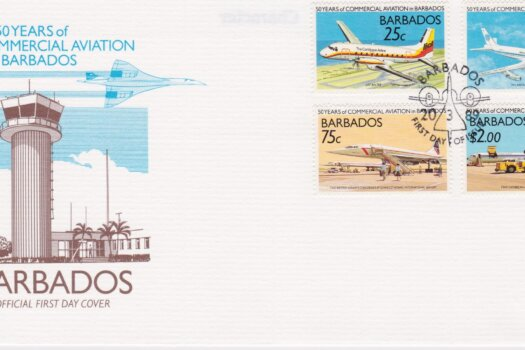 Barbados 50 Years of Commercial Aviation FDC