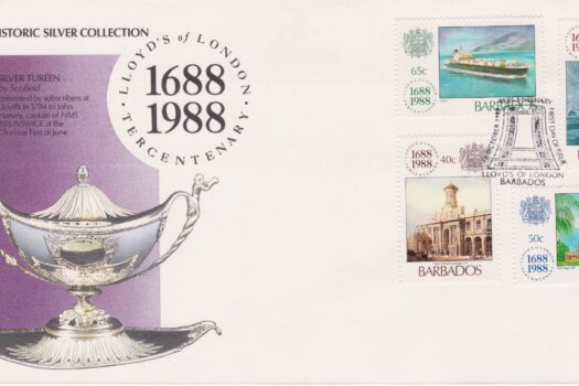 Barbados Lloyds of London Tercentenary FDC