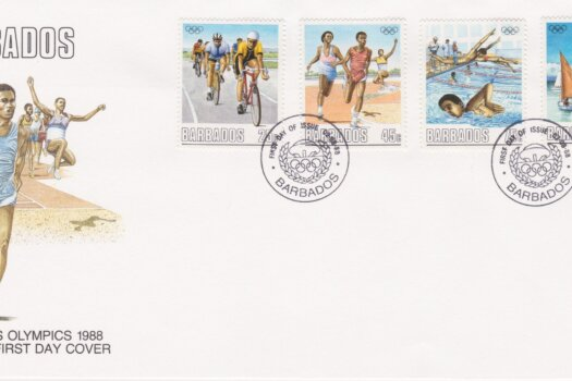 Barbados Olympics 1988 FDC
