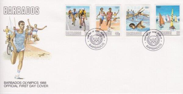 Barbados 1988   Barbados Olympics 1988 FDC