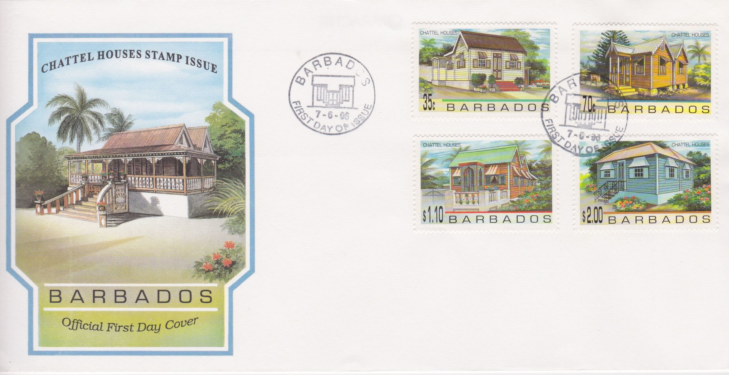 Barbados 1996 Chattel Houses FDC
