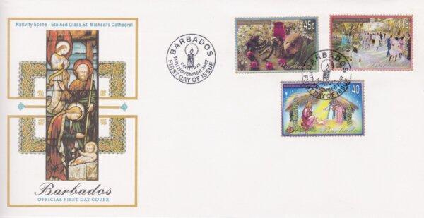 Barbados Christmas 2002 FDC