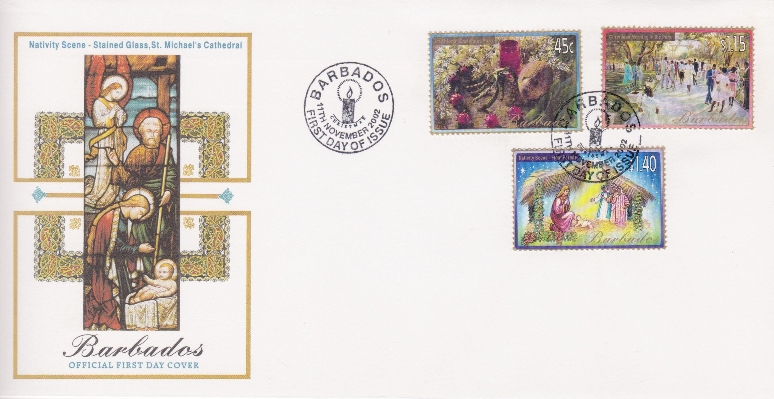 Barbados Christmas 2002 FDC