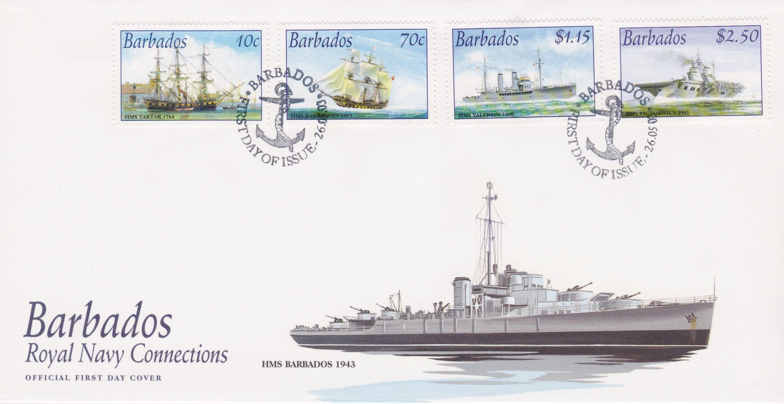 Barbados Royal Navy Connections FDC
