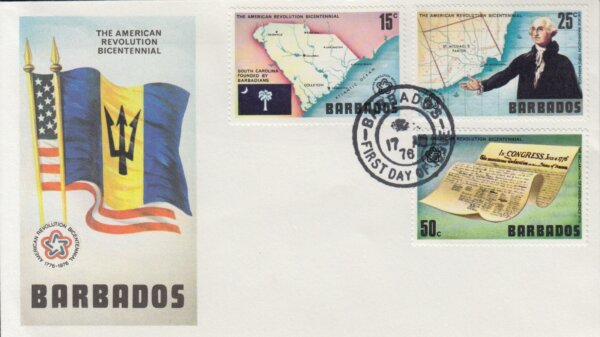 Bicentenary of the American Revolution FDC 17th August 1976