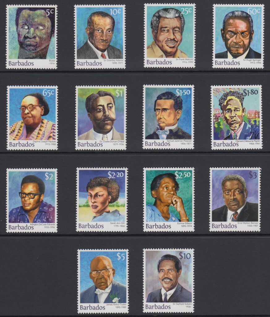 Builders of Barbados definitives 2016