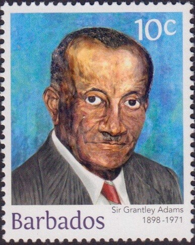 Sir Grantly Adams 10c - Barbados Stamps