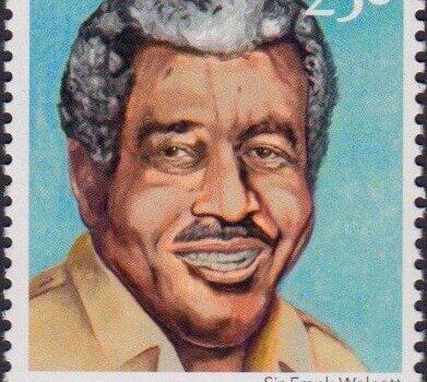 Builders of Barbados - Sir Frank Walcott 25c - Barbados Stamps