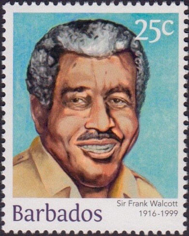 Sir Frank Walcott 25c - Barbados Stamps