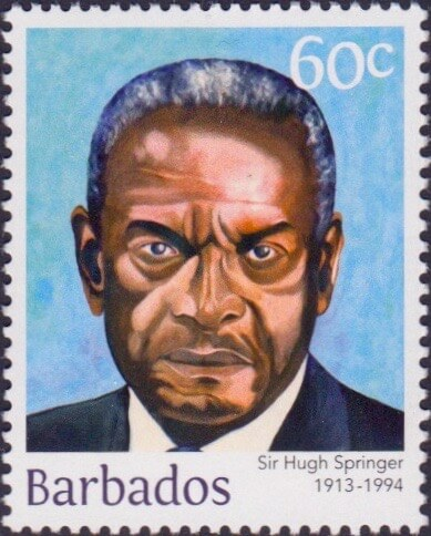 Sir Hugh Springer 60c - Barbados Stamps