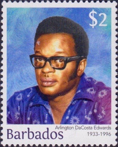 Arlington DaCosta Edwards $2 - Barbados Stamps