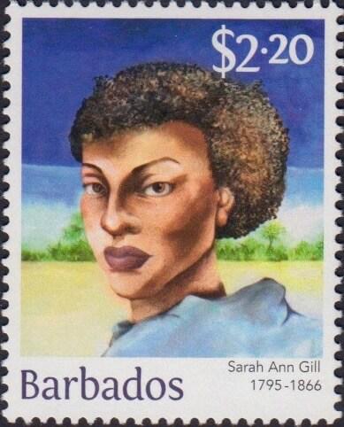 Sarah Ann Gill $2.20 - Barbados Stamps