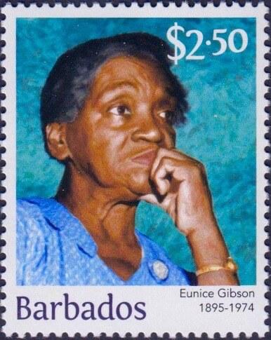 Eunice Gibson $2.50 - Barbados Stamps