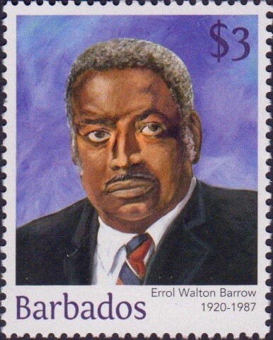 Errol Walton Barrow $3 - Barbados Stamps