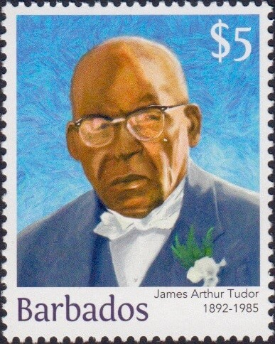 James Arthur Tudor $5 - Barbados Stamps