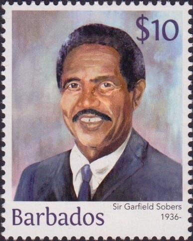 Sir Garfield Sobers $10 - Barbados Stamps