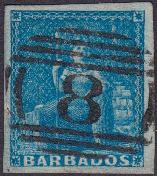 Barbados SG4 with St Thomas '8' cancel
